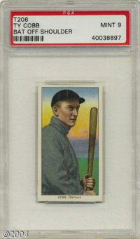 1911 T206 Ty Cobb Bat Off Shoulder PSA Mint 9 No superlative seems suitably appropriate for a card such as this, a monum...