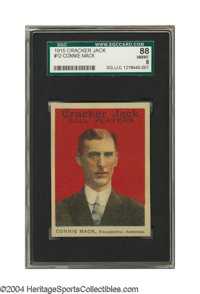 1915 Cracker Jack Connie Mack #12 SGC NM/MT 88 The grand old gentleman was in the midst of the worst year of his life wh...