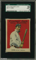 Baseball Cards:Singles (Pre-1930), 1915 Cracker Jack Ty Cobb #30 SGC NM/MT 88 It's that song. ...