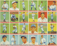 1933 Goudey Big League Triple Babe Ruth Uncut Sheet The 1933 Goudey Gum series of 240 was the first major gum card set o...
