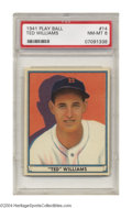 Baseball Cards:Singles (1940-1949), 1941 Play Ball Ted Williams #14 PSA NM-MT 8 Not a bad ...
