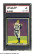 Baseball Cards:Singles (1940-1949), 1941 Play Ball Joe DiMaggio #71 PSA NM 7 The events of ...