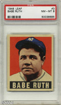 Baseball Cards:Singles (1940-1949), 1948 Leaf Babe Ruth #3 PSA NM-MT 8 It's one of the most ...