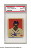 Baseball Cards:Singles (1940-1949), 1949 Bowman Jackie Robinson #50 PSA NM-MT 8 This ...