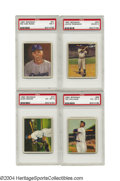 Baseball Cards:Lots, 1950 Bowman Baseball Complete Set with PSA Graded Stars ...
