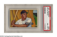 1951 Bowman Willie Mays #305 PSA NM-MT 8 The 1951 Bowman issue is typically plagued with printing dots, but not this one...