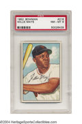 Baseball Cards:Singles (1950-1959), 1952 Bowman Willie Mays #218 PSA NM-MT 8. There are two ...