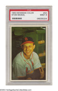 Baseball Cards:Singles (1950-1959), 1953 Bowman Color Stan Musial #32 PSA Mint 9 An ...
