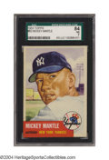 Baseball Cards:Singles (1950-1959), 1953 Topps Mickey Mantle #82 SGC NM 84 A high-quality ...