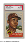 Baseball Cards:Singles (1950-1959), 1953 Topps Satchel Paige #220 PSA NM-MT 8 He was famous ...