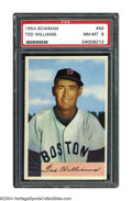 Baseball Cards:Singles (1950-1959), 1954 Bowman Ted Williams #66 PSA NM-MT 8 Back for his ...