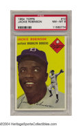 Baseball Cards:Singles (1950-1959), 1954 Topps Jackie Robinson #10 PSA NM-MT 8 Flip this card ...