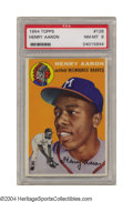 Baseball Cards:Singles (1950-1959), 1954 Topps Henry Aaron #125 PSA NM-MT 8 Judged solely on ...