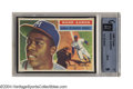 Baseball Cards:Singles (1950-1959), 1956 Topps Hank Aaron #31 GAI Mint 9 A long and arduous ...