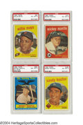 Baseball Cards:Sets, 1959 Topps Baseball Complete Set with PSA Graded Stars One ...