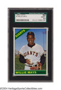 Baseball Cards:Singles (1960-1969), 1966 Topps Willie Mays #1 SGC NM/MT+ 92 Now this is a ...