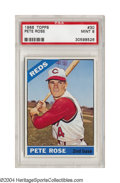 Baseball Cards:Singles (1960-1969), 1966 Topps Pete Rose #30 PSA Mint 9 Of almost 750 graded ...