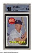 Baseball Cards:Singles (1960-1969), 1969 Topps Mickey Mantle #500 GAI NM-MT+ 8.5 Say it ain't ...