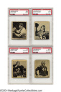 Football Cards:Sets, 1948 Bowman Football Complete Set with PSA Graded Stars A ...