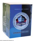 Football Collectibles:Balls, 1998 Football Hall of Famers Signed Card Set. Lot of 116 ...
