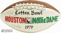 Football Collectibles:Balls, 1979 Cotton Bowl Signed Football with Joe Montana One of ...
