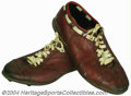 Football Collectibles:Uniforms, Sonny Jurgensen 1974 Final Game-Worn Cleats The included ...