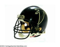 Football Collectibles:Uniforms, Atlanta Falcons Game-Used Helmet This black Riddell helmet ...