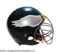 Football Collectibles:Uniforms, Philadelphia Eagles Game-Used Autographed Helmet An ...