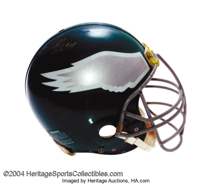 c5845a55b8c Philadelphia Eagles Game-Used Autographed Helmet An ... Football ...