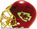 Football Collectibles:Uniforms, Kansas City Chiefs Game-Used Autographed Helmet Here's an ...