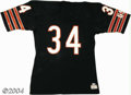 Football Collectibles:Uniforms, Walter Payton Mid-1980s Game-Worn Chicago Bears Jersey ...