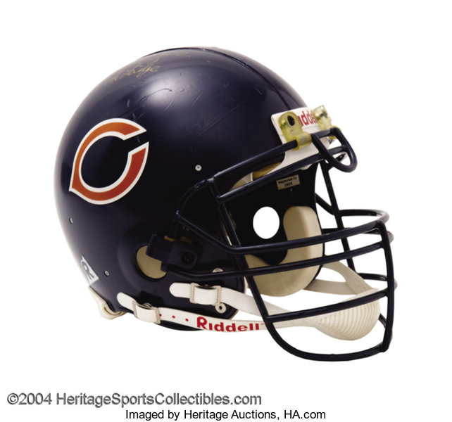 new arrival df62a 9736d Chicago Bears Game-Used William Perry Autographed Helmet ...
