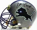 Football Collectibles:Uniforms, Detroit Lions Game-Used Helmet Autographed By Barry Sanders