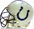 Football Collectibles:Uniforms, Indianapolis Colts Game-Used Autographed Helmet An ...