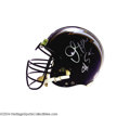 Football Collectibles:Uniforms, Junior Seau Game Used Autographed San Diego Chargers Helmet