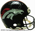 Football Collectibles:Helmets, Denver Broncos Game-Used Autographed Helmet An official ...
