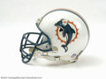 Football Collectibles:Helmets, Tim Bowens Miami Dolphins Game-Used Helmet Here's an ...