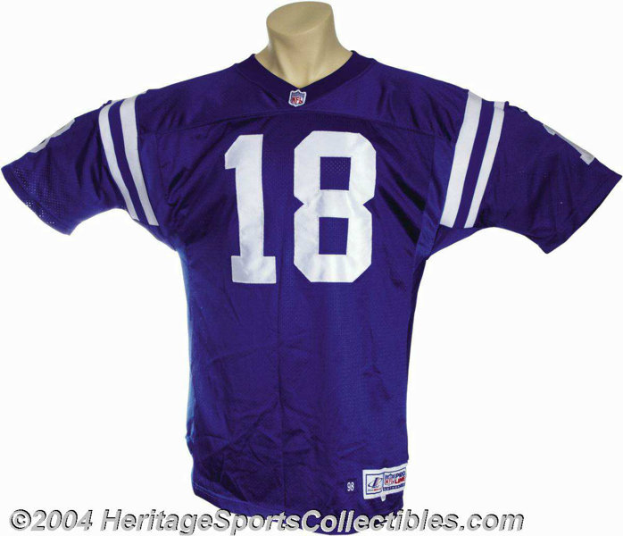 1998 Peyton Manning Game-Worn and Signed Rookie Jersey ... Football ... 2d2f6f854