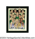 Basketball Collectibles:Others, 1956-57 Boston Celtics Team Signed Lithograph. A very rare anddesirable Artist's Proof from the famed sports artist Ron Lew...