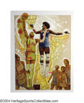 Basketball Collectibles:Others, 1977 NBA Finals Lithograph by Mardon Two of the greatest ...
