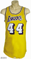 Basketball Collectibles:Uniforms, Jerry West 1971-72 Los Angeles Lakers Game-Worn Jersey ...