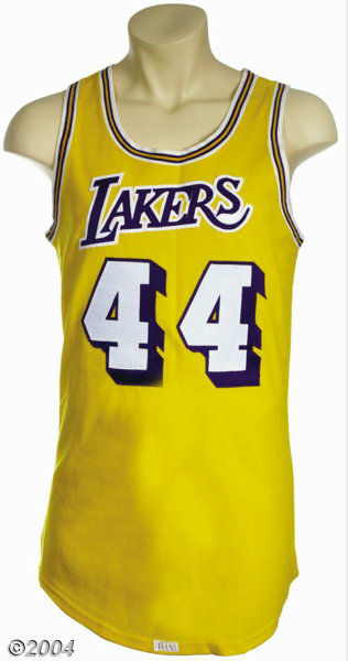 best authentic 778d2 ac269 Jerry West 1971-72 Los Angeles Lakers Game-Worn Jersey ...