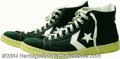 Basketball Collectibles:Others, Larry Bird 1979-80 Game Worn Rookie Sneakers In serious ...