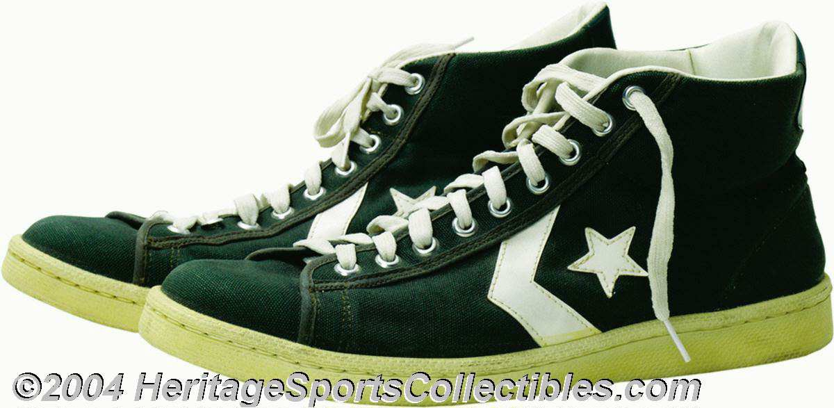 good quality best sell crazy price Larry Bird 1979-80 Game Worn Rookie Sneakers In serious ... | Lot ...