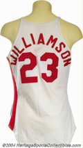 Basketball Collectibles:Uniforms, John Williamson 1980 Game-Worn New Jersey Nets Uniform With ... (2items)