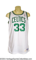Basketball Collectibles:Uniforms, 1990-91 Larry Bird Game-Worn Jersey Perhaps it's the ...