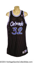 Basketball Collectibles:Uniforms, Shaquille O'Neal 1995-96 Orlando Magic Game-Worn Jersey ...