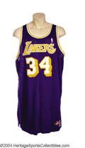 Basketball Collectibles:Uniforms, Shaquille O'Neal 1998-99 Game-Worn Jersey With Shaq back ...