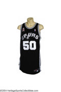 Basketball Collectibles:Uniforms, 2001-2002 David Robinson Game-Worn Jersey On November 13, ...