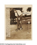 Golf Collectibles:Autographs, Ben Hogan Signed Wire Photograph The golfing legend ...